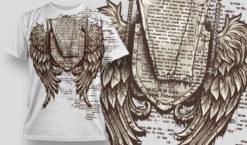 T-shirt Design 482 T-shirt designs and templates vector