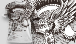 T-shirt Design 483 T-shirt designs and templates vector