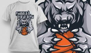 T-shirt Design 502 T-shirt designs and templates vector