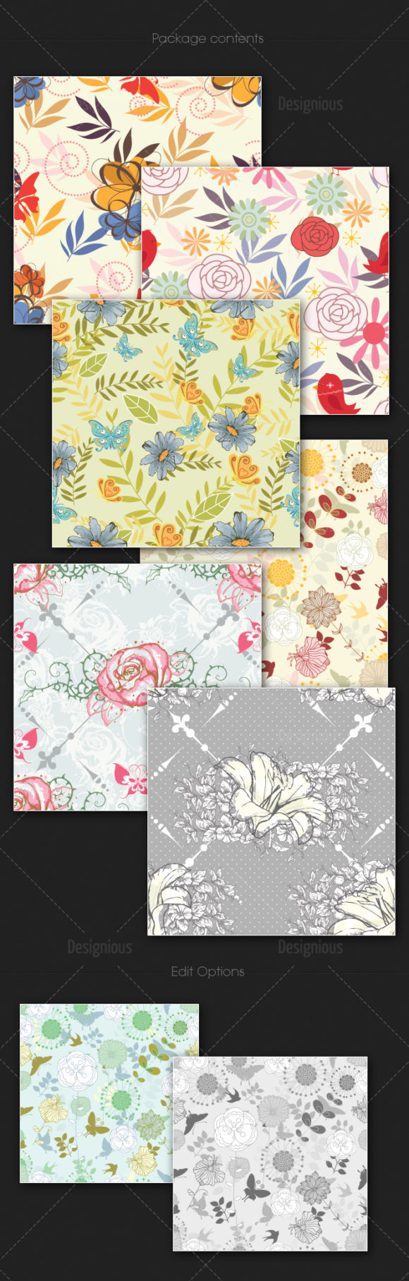 Seamless Patterns Vector Pack 112 Vector Patterns [tag]