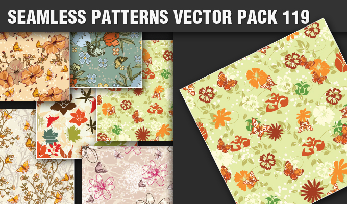Seamless Patterns Vector Pack 119 Patterns [tag]