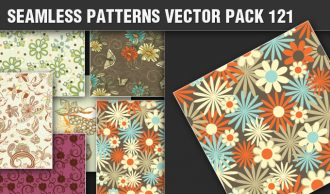 Seamless Patterns Vector Pack 121 Vector Patterns [tag]
