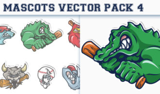 Mascots Vector Pack 4 Sport, Mascots & Cartoons [tag]