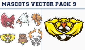 Mascots Vector Pack 9 Sport, Mascots & Cartoons [tag]