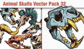 Skulls Vector Pack 32 Skulls [tag]