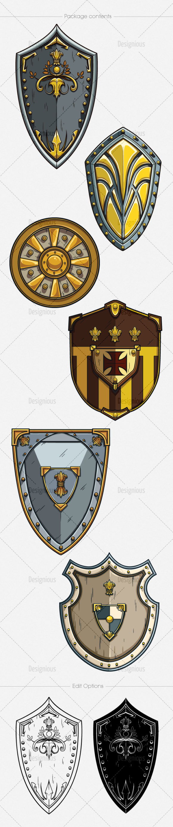 Shields Vector Pack 4 6