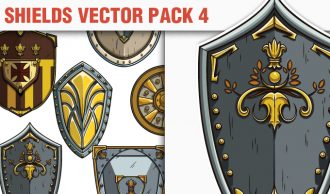 Shields Vector Pack 4 Heraldry [tag]