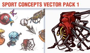 Sport Concepts Vector Pack 1 People [tag]