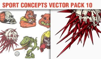 Sport Concepts Vector Pack 10 People [tag]