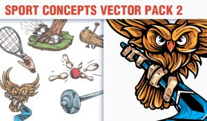 Sport Concepts Vector Pack 2 People [tag]
