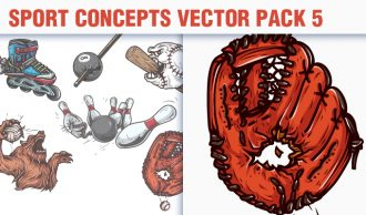 Sport Concepts Vector Pack 5 People [tag]