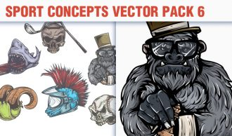 Sport Concepts Vector Pack 6 People [tag]