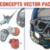 Sport Concepts Vector Pack 9 products designious vector sport concepts 8 small