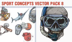Sport Concepts Vector Pack 8 People [tag]