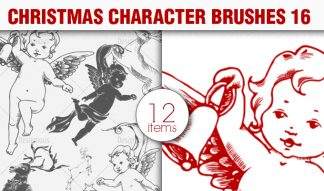 Christmas Brushes Pack 16 Holiday brushes [tag]