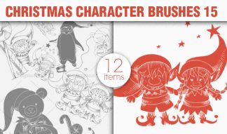 Christmas Brushes Pack 15 Holiday brushes [tag]