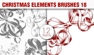 Christmas Brushes Pack 18 Holiday brushes [tag]