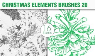 Christmas Brushes Pack 20 Holiday brushes [tag]