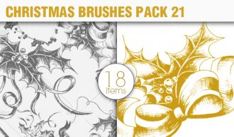 Christmas Brushes Pack 21 Holiday brushes [tag]