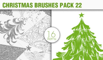 Christmas Brushes Pack 22 Holiday brushes [tag]