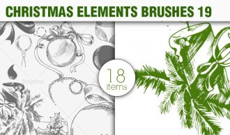 Christmas Brushes Pack 19 Holiday brushes [tag]
