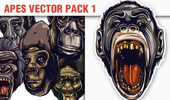 Apes Vector Pack 1 products designious vector apes 1 small