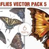 Blossomed Branches Vector Pack 1 products designious vector butterflies 5 small