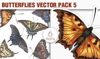 Butterflies Vector Pack 5 Nature [tag]