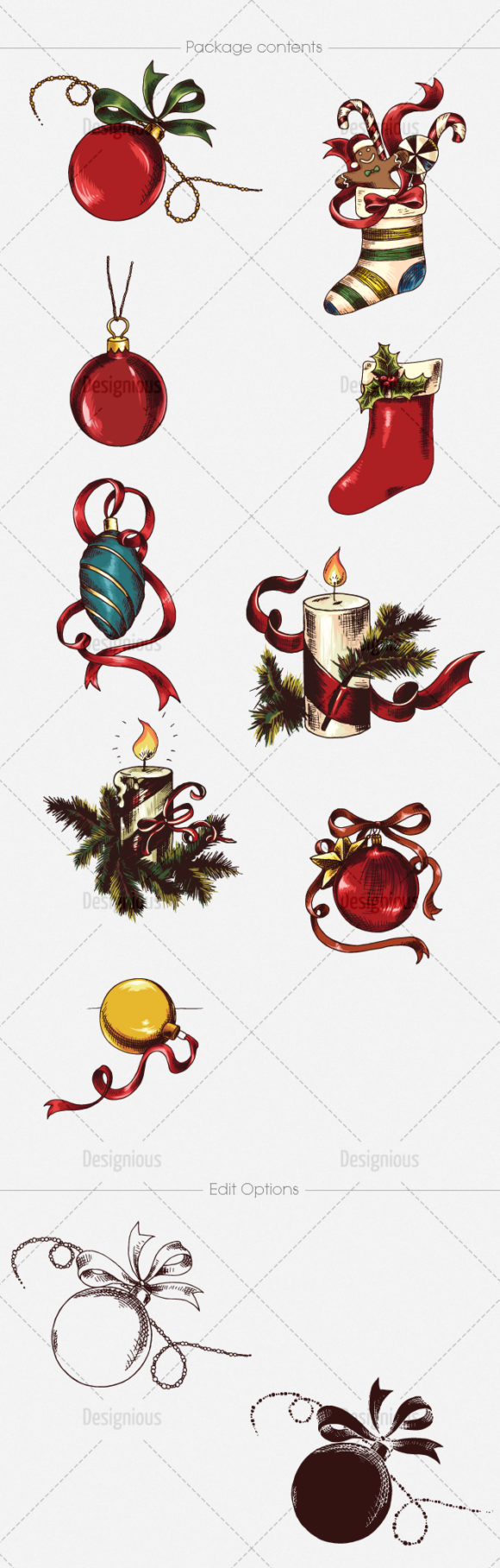 Christmas Vector Pack 19 products designious vector christmas 19 large