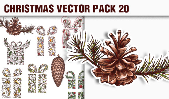 Christmas Vector Pack 20 products designious vector christmas 20 small