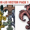 Crowns Vector Pack 5 products designious vector fleurdelis 1 small