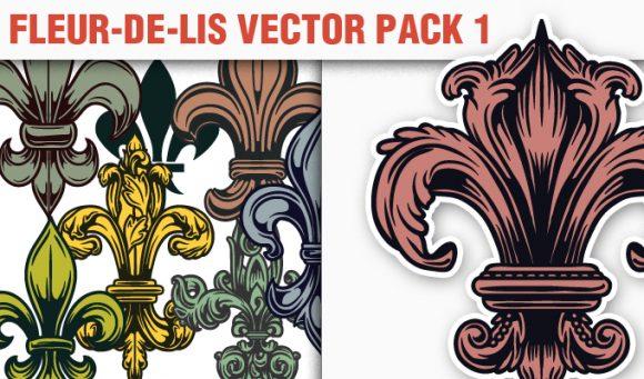 Fleur-de-Lis Vector Pack 1 products designious vector fleurdelis 1 small