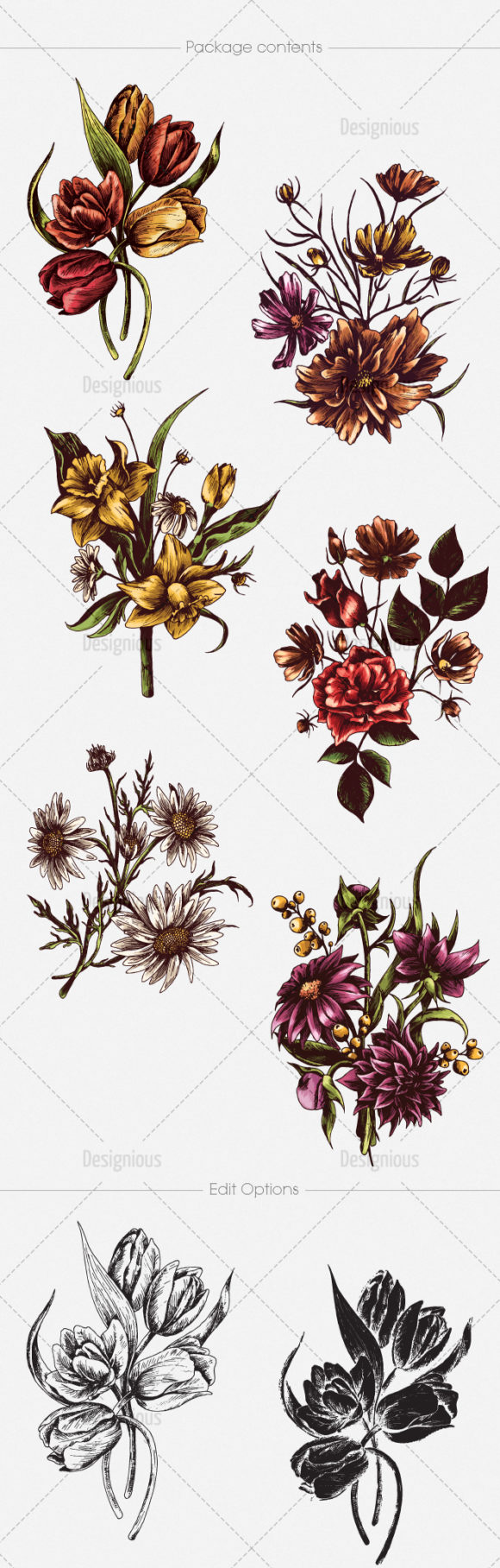 Floral Vector Pack 134 products designious vector floral 134 large