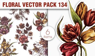 Floral Vector Pack 134 Floral [tag]