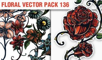 Floral Vector Pack 136 Floral [tag]