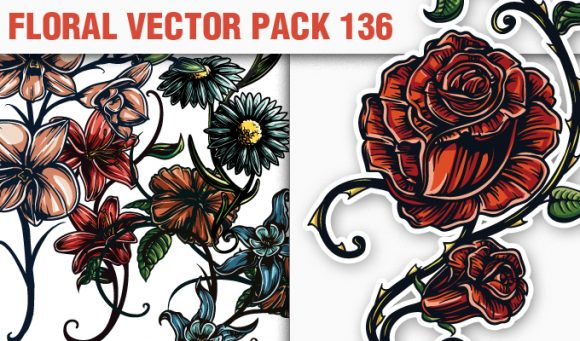 Floral Vector Pack 136 products designious vector floral 136 small