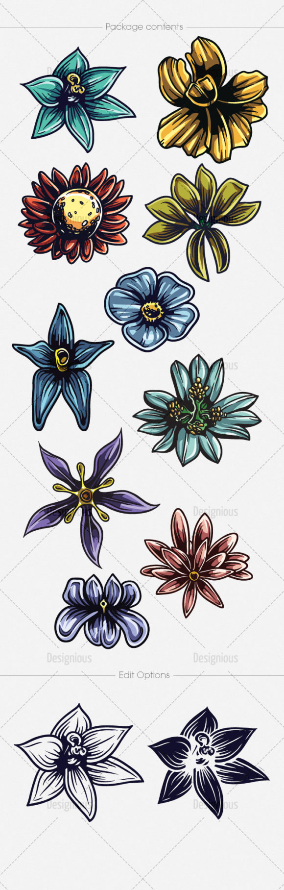 Floral Vector Pack 138 6