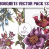 Floral Vector Pack 134 products designious vector floral bouquets 133 small