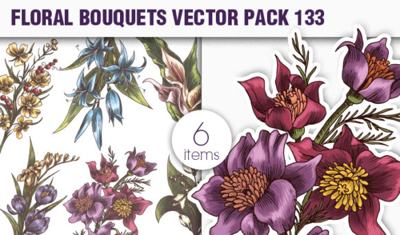 Floral Vector Pack 133 products designious vector floral bouquets 133 small