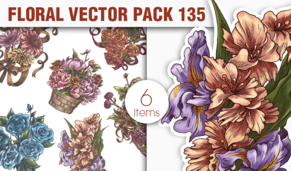 Floral Vector Pack 135 products designious vector floral bouquets 135 small