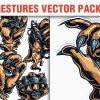 Hand Gestures Vector Pack 4 3