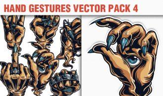 Hand Gestures Vector Pack 4 People [tag]