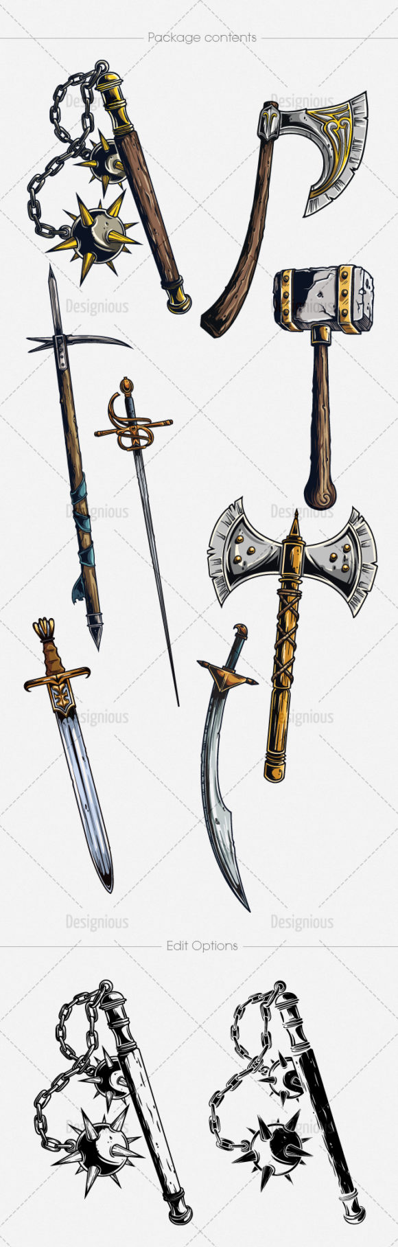 Medieval Weapons Vector Pack 1 6