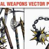 Medieval Weapons Vector Pack 1 3