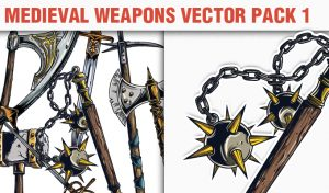 Medieval Weapons Vector Pack 1 Heraldry [tag]