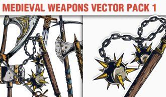 Medieval Weapons Vector Pack 1 Heraldry [tag]