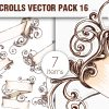 Scroll Vector Pack 17 products designious vector ornate scrolls 16 small