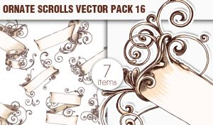 Scrolls Vector Pack 16 Scrolls [tag]
