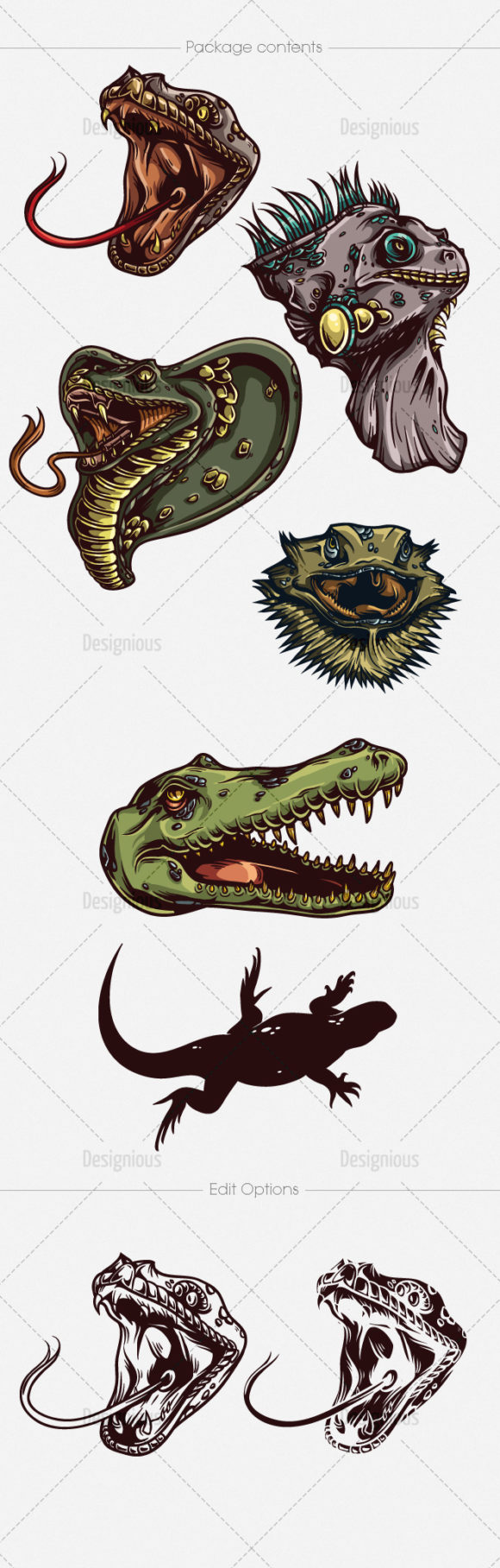 Reptiles Vector Pack 1 Nature [tag]