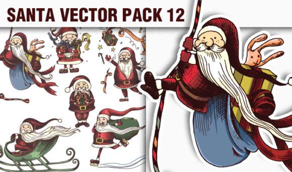 Santas Vector Pack 12 products designious vector santa 12 small